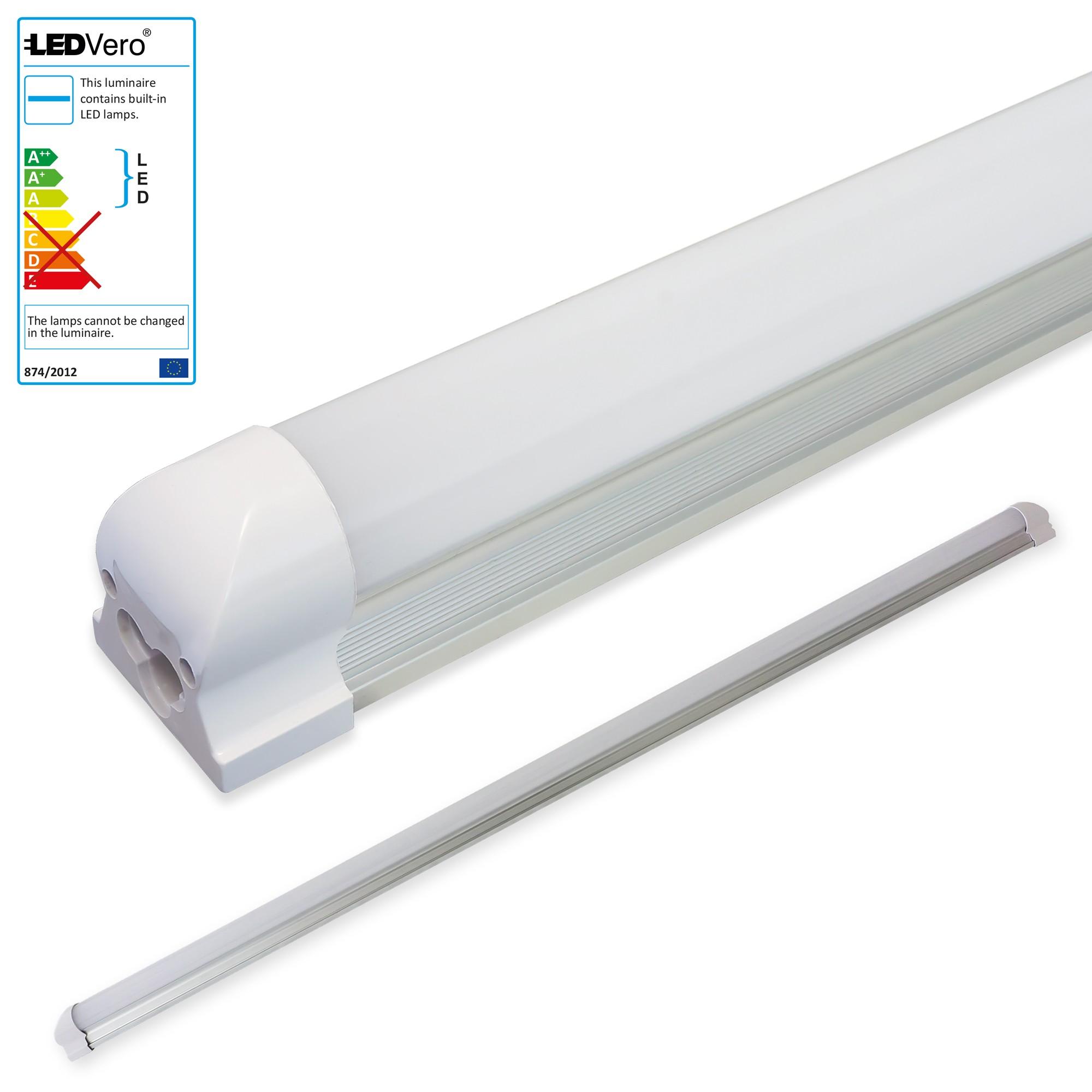 led r hre mit fassung 60 180cm r hren lichtleiste leuchtstoffr hre lampe tube ebay. Black Bedroom Furniture Sets. Home Design Ideas