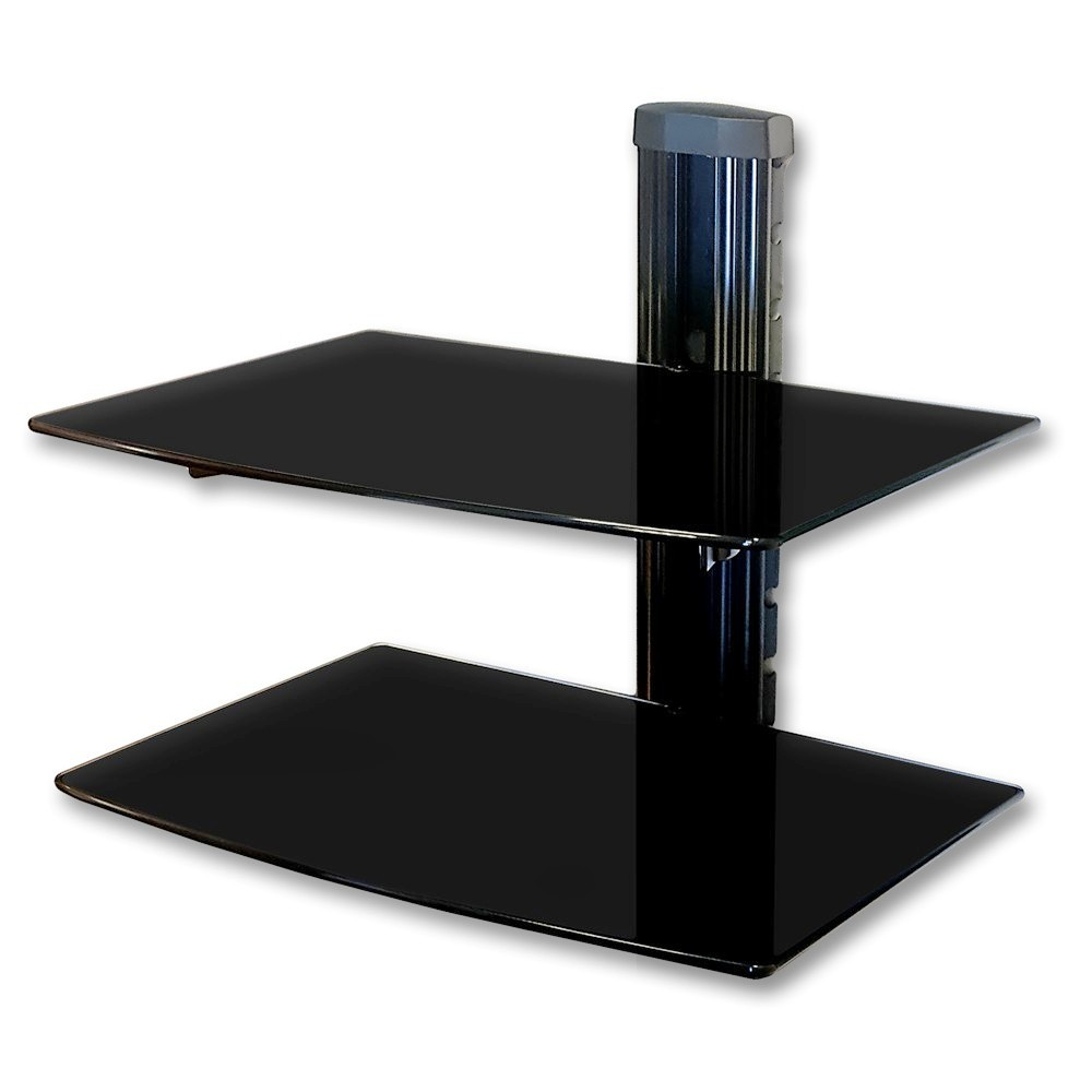 nemaxx glas dvd tv wandregal wandhalterung hifi media. Black Bedroom Furniture Sets. Home Design Ideas