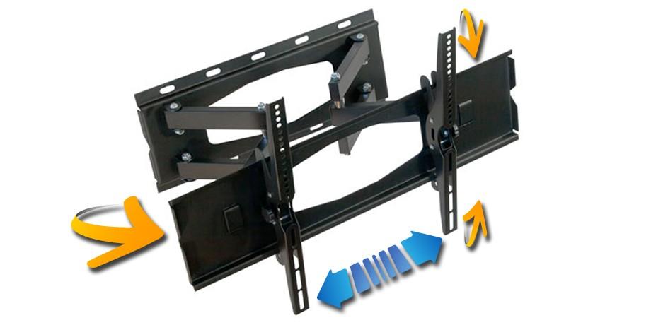 NEMAXX MK05 DOUBLEARM TV WALL MOUNT BRACKET SWIVEL TILT LCD LED PLASMA UNIVERSAL