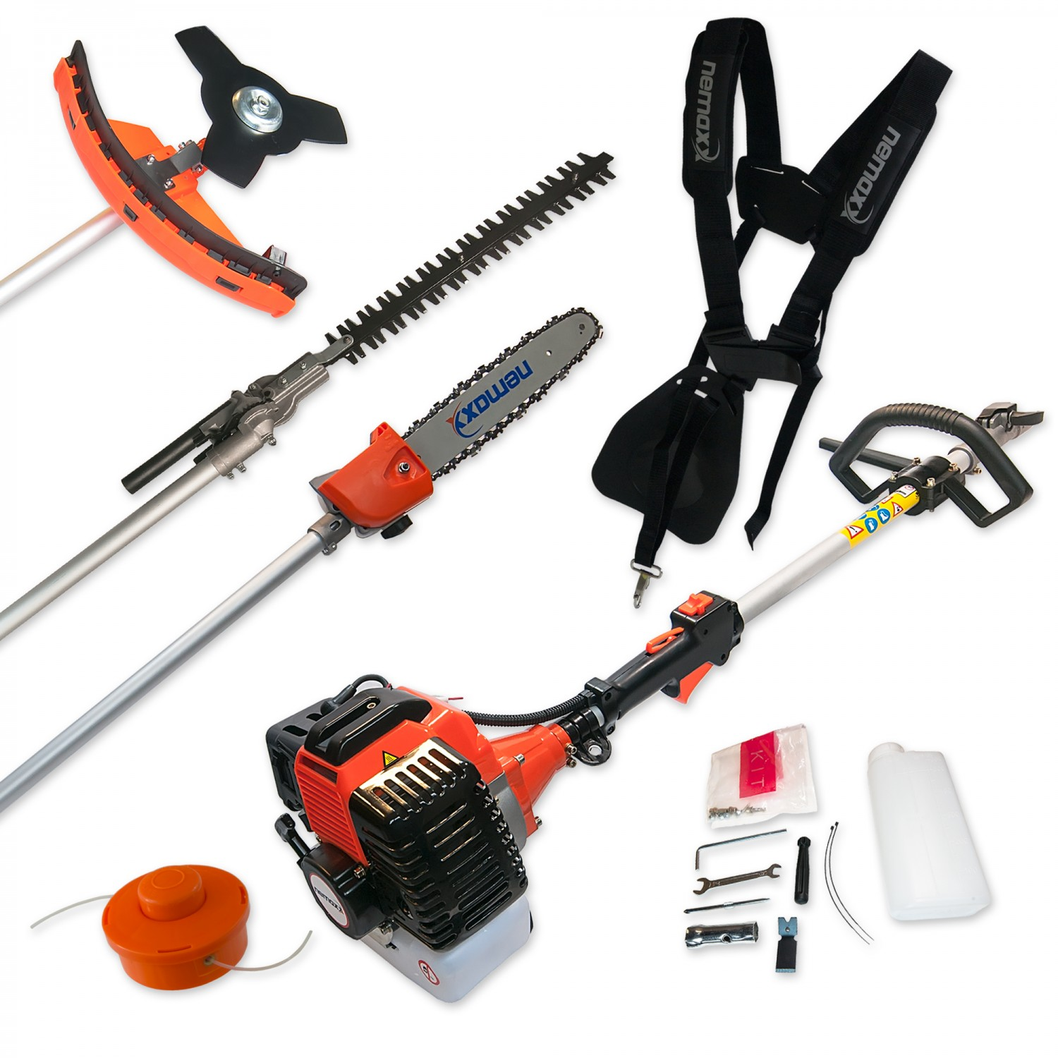 52cc petrol brushcutter 4in1 gardening multi tool set for Garden cutting tool set
