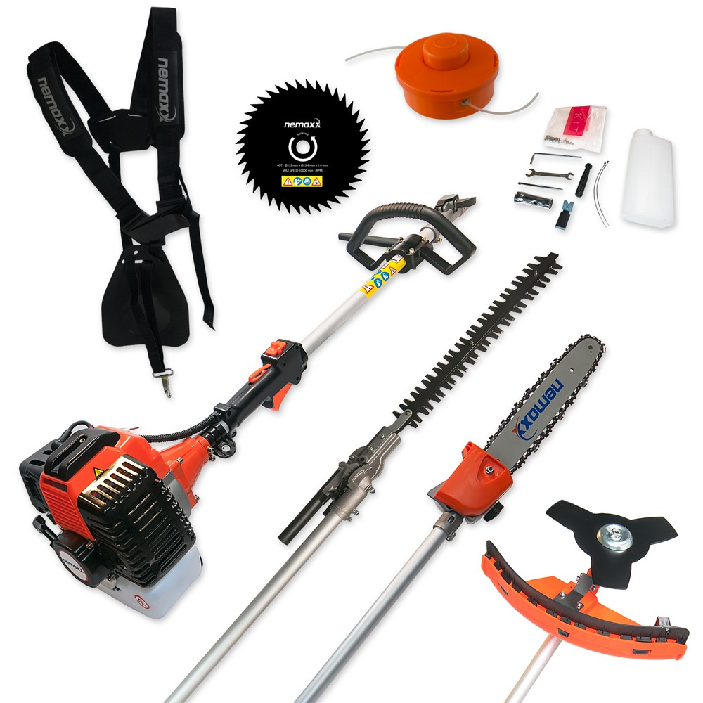 52cc petrol brushcutter 5in1 gardening multi tool set for Garden cutting tool set
