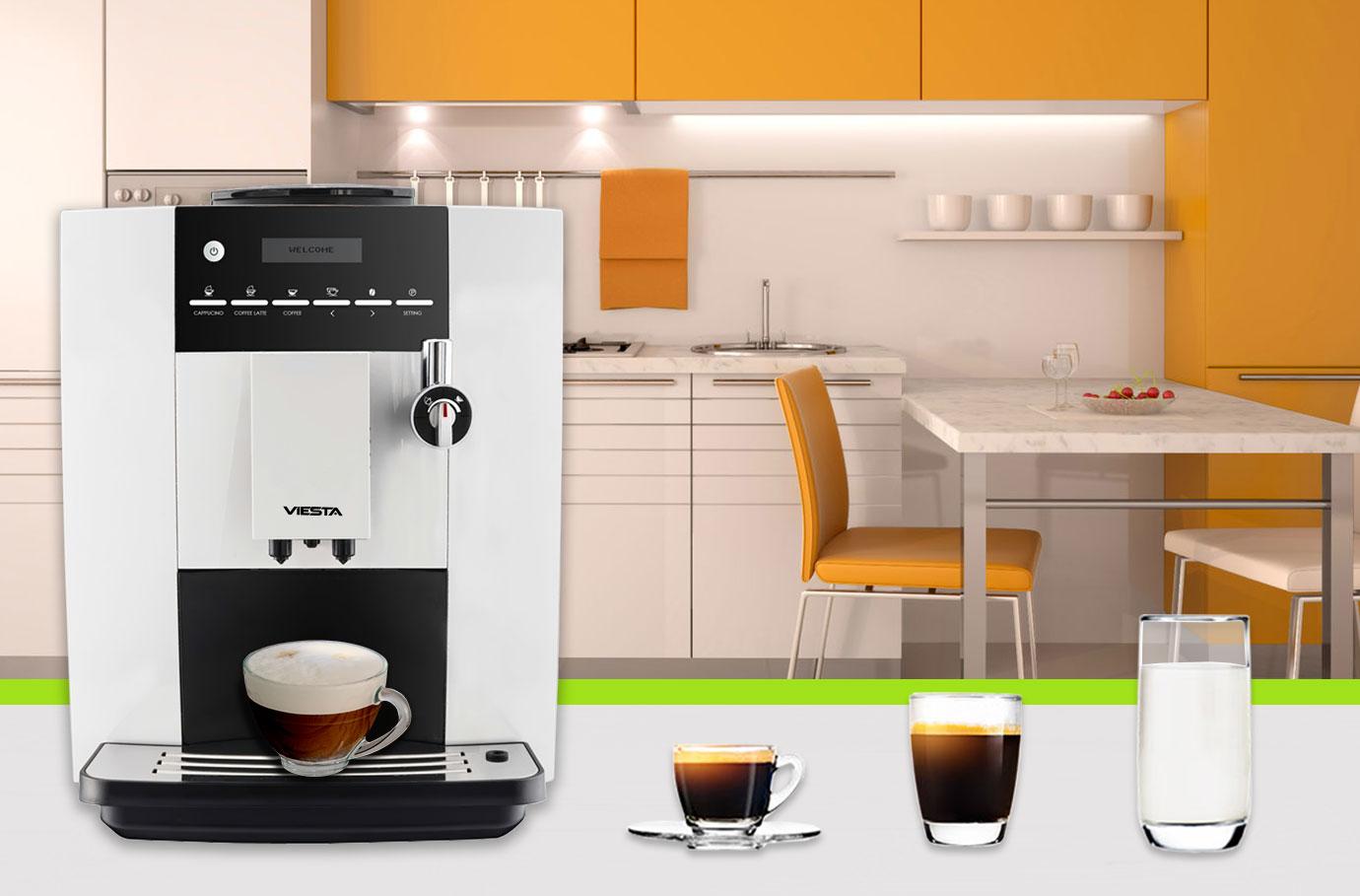 viesta cb350 eco plus kaffeevollautomat mit keramik mahlwerk milchaufsch umer ebay. Black Bedroom Furniture Sets. Home Design Ideas