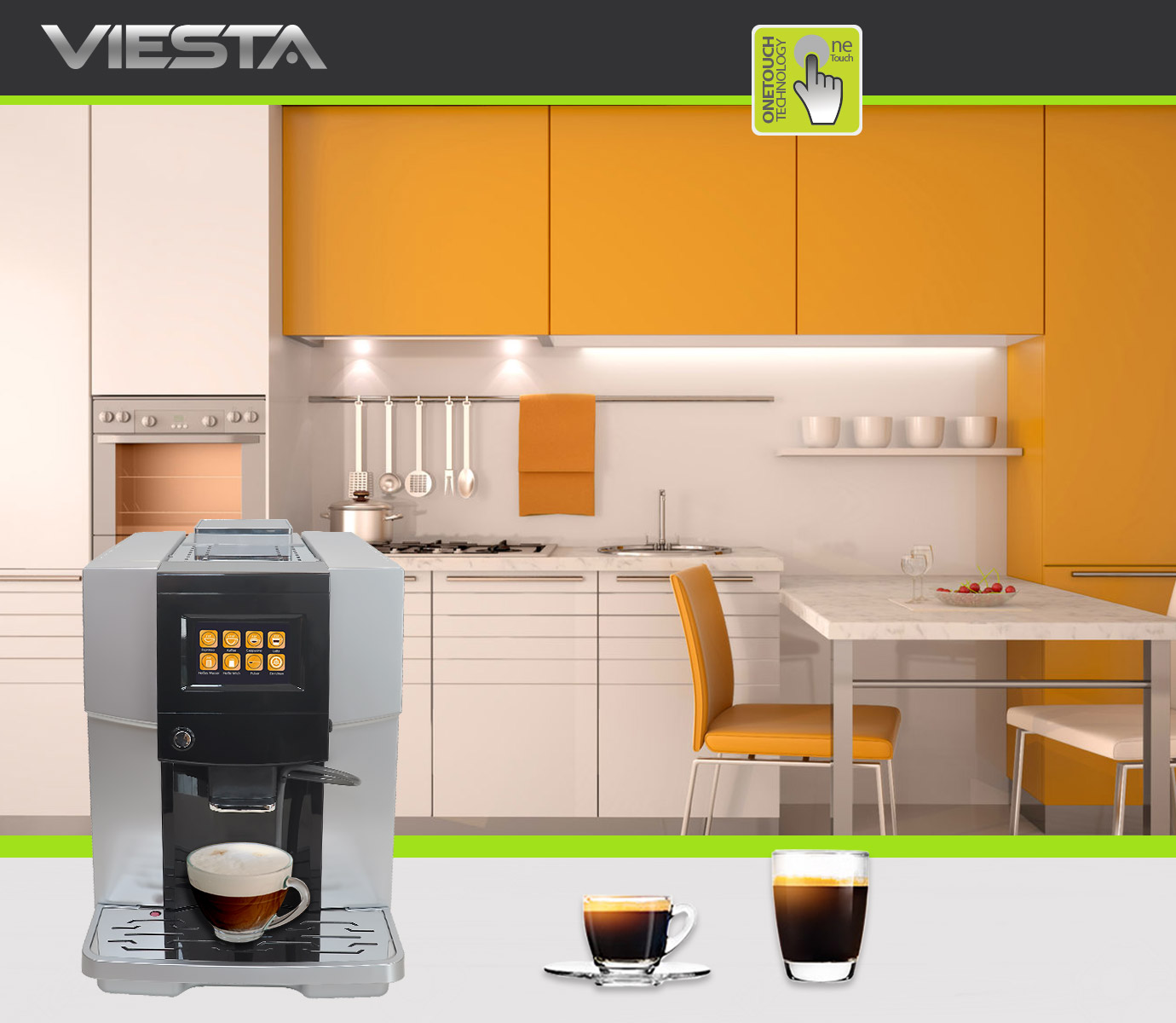 viesta one touch 500 kaffeevollautomat kaffeemaschine mit selbstreinigungssystem ebay. Black Bedroom Furniture Sets. Home Design Ideas