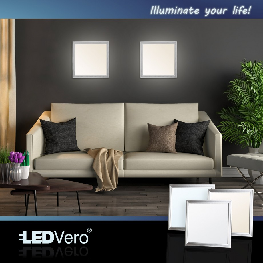 ultraslim led panel 60x60cm deckenleuchte einbauleuchte einbau leuchte strahler ebay. Black Bedroom Furniture Sets. Home Design Ideas