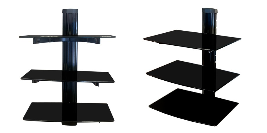 nemaxx 03 glas hifi multimedia wandregal tv wandhalterung dvd player wandboard ebay. Black Bedroom Furniture Sets. Home Design Ideas