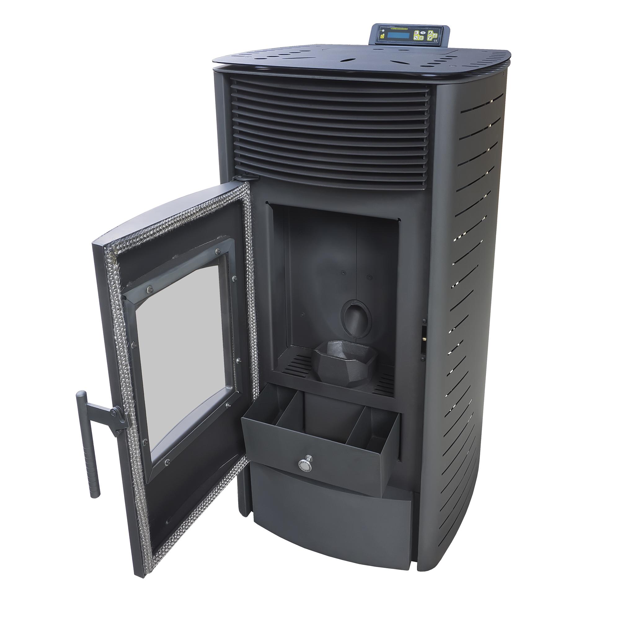nemaxx 12 kw pelletofen pellet kaminofen pelletkamin. Black Bedroom Furniture Sets. Home Design Ideas