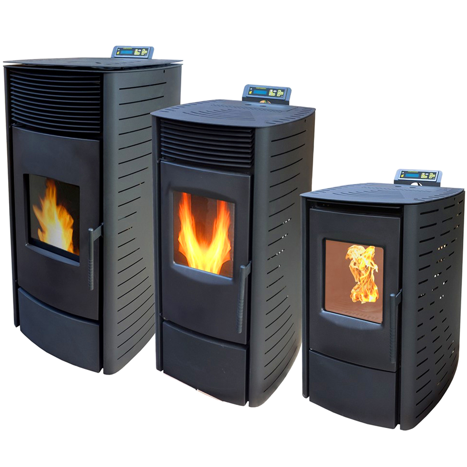 nemaxx pellet stove 3 11 5 kw fire woodburning heating. Black Bedroom Furniture Sets. Home Design Ideas