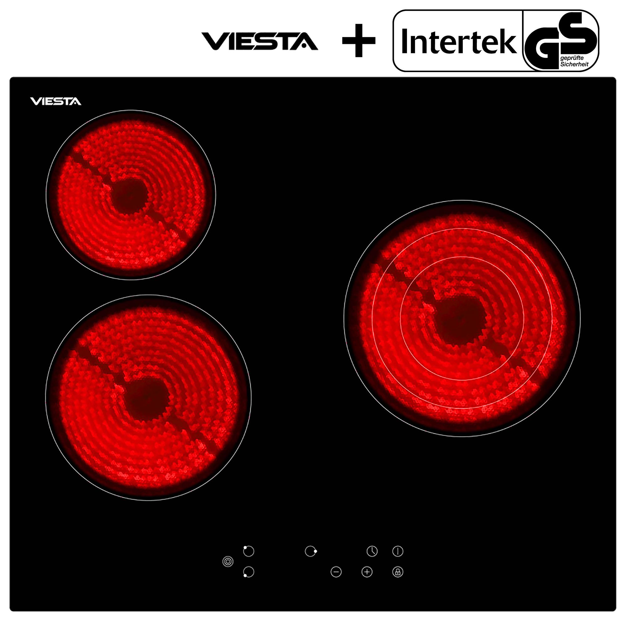 viesta 3 cooking zones electric ceramic glass kitchen hob. Black Bedroom Furniture Sets. Home Design Ideas