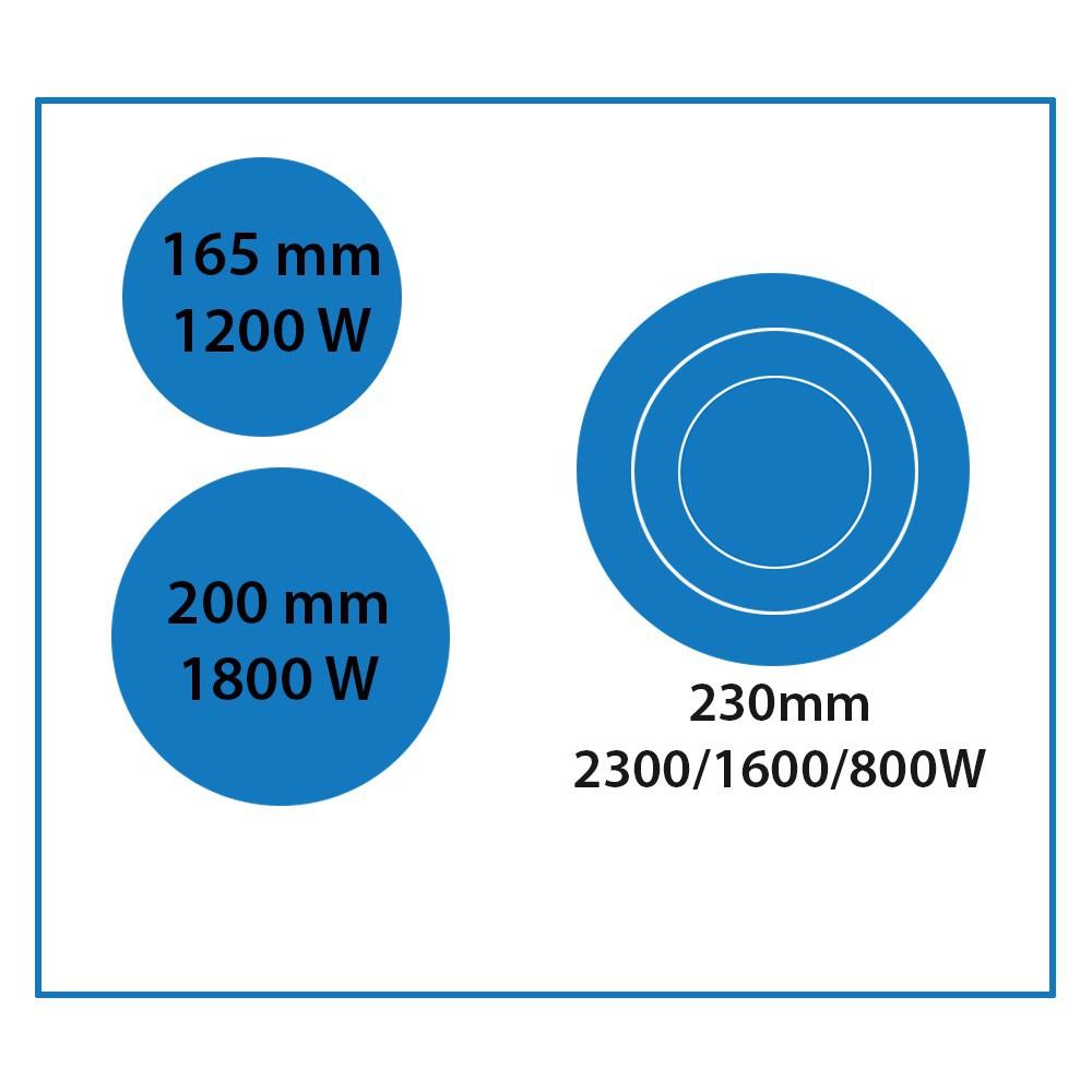 viesta 3 kochplatten zonen ceran glaskeramik kochfeld sensor touch 9 stufen ebay. Black Bedroom Furniture Sets. Home Design Ideas