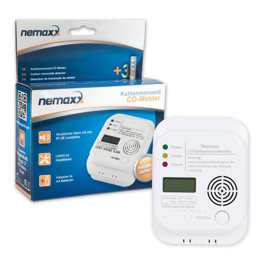 5x nemaxx nemaxx co melder alarm kohlenmonoxid gasmelder gaswarner rauchmelder 7630034480337 ebay. Black Bedroom Furniture Sets. Home Design Ideas