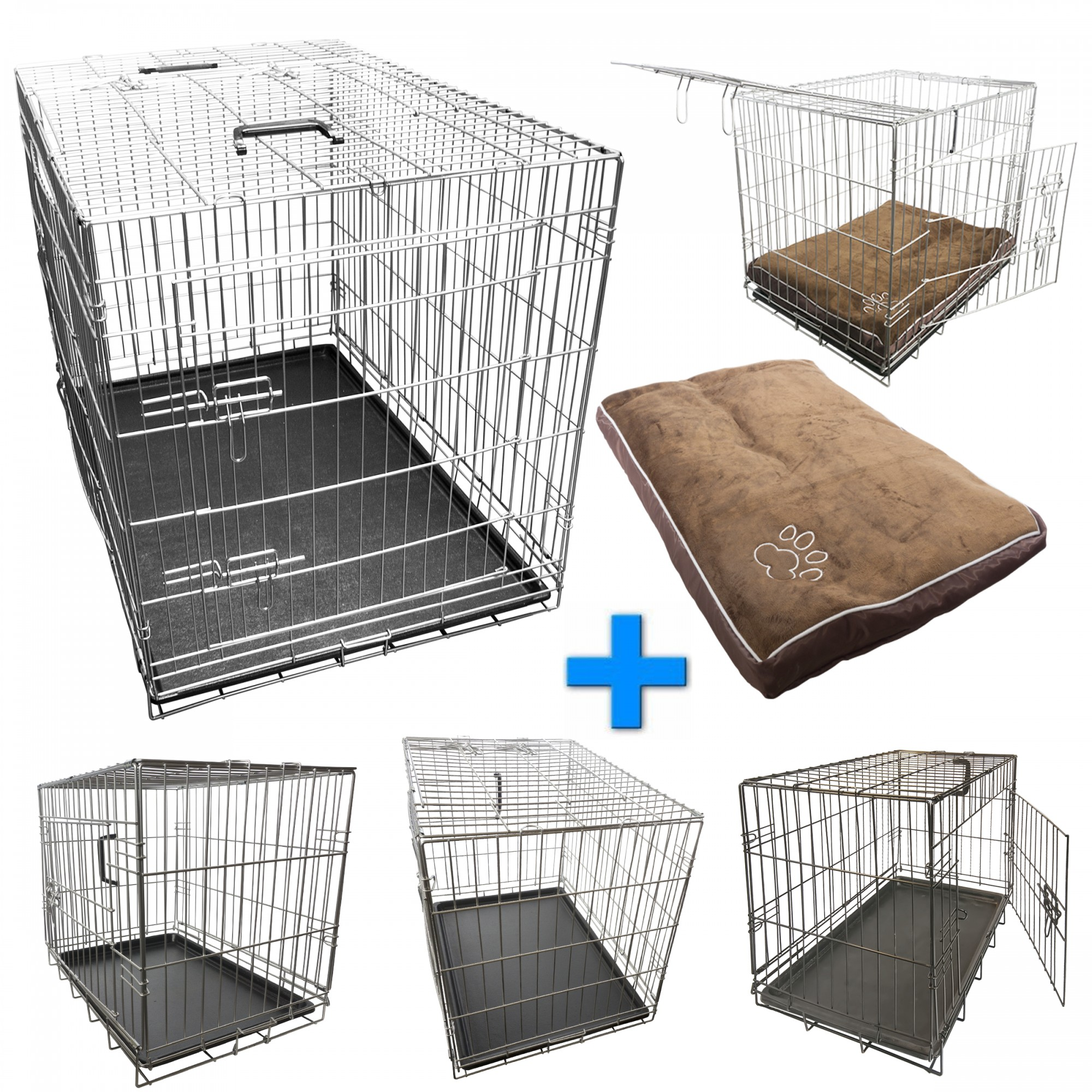 nemaxx foldable transport box transport cage wire cage dog. Black Bedroom Furniture Sets. Home Design Ideas