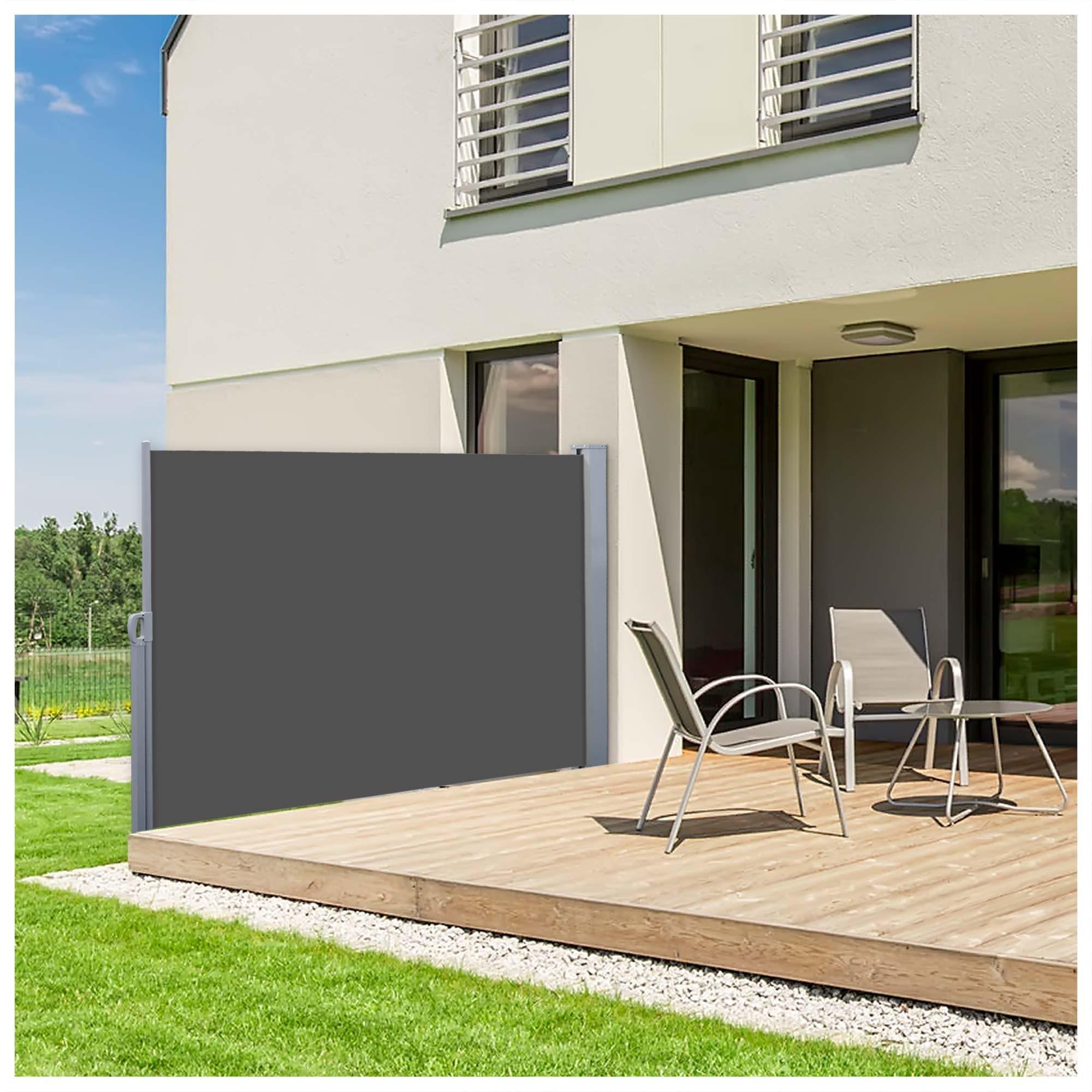 Sichtschutz Terrasse Seitenmarkise Kreative Ideen für Design und