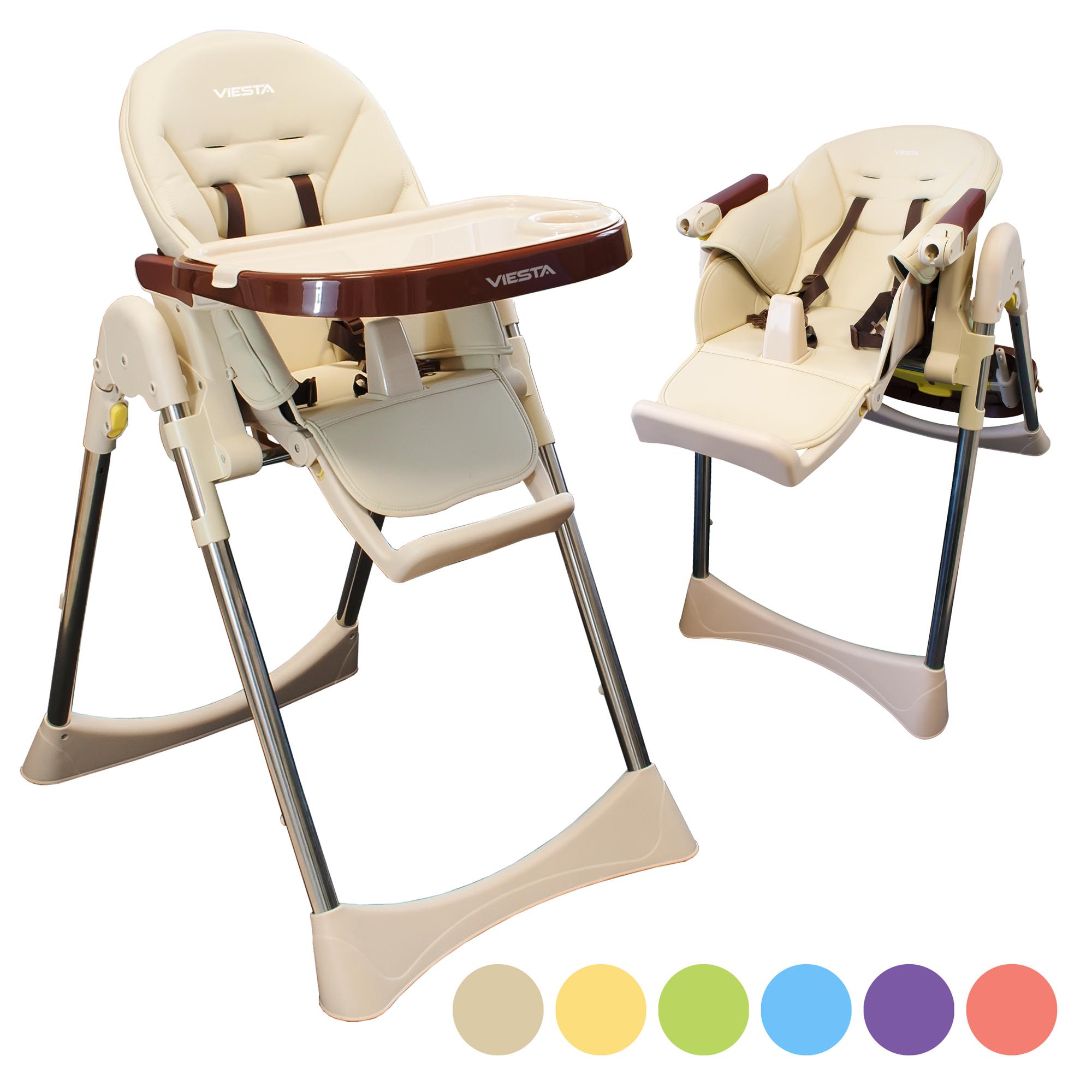 viesta kinderhochstuhl mit baby liegefunktion hochstuhl klappbar spielbogen ebay. Black Bedroom Furniture Sets. Home Design Ideas