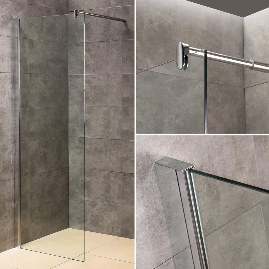 viesta glas duschwand 70 x 195 cm duschabtrennung duschkabine inkl wandhalter ebay. Black Bedroom Furniture Sets. Home Design Ideas