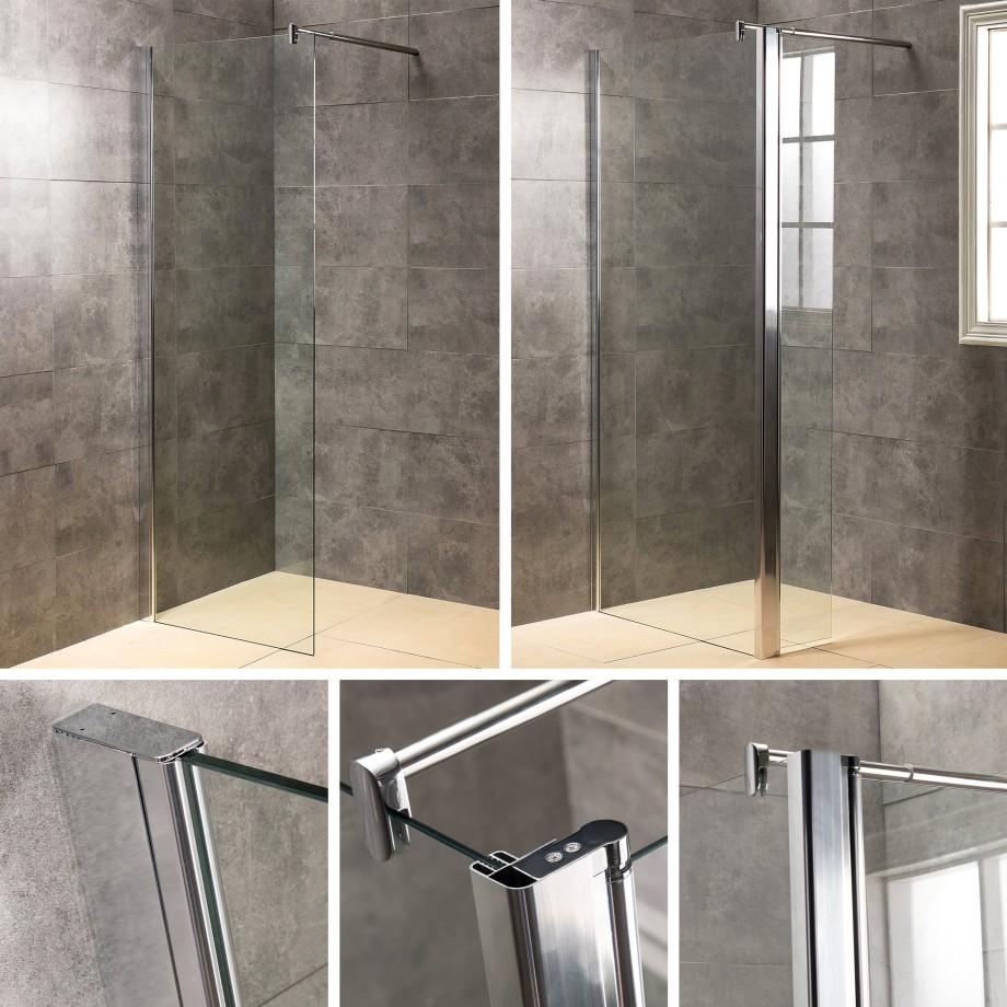 viesta duschwand glas 70 140x195cm nano versiegelung duschtrennwand duschkabine ebay. Black Bedroom Furniture Sets. Home Design Ideas