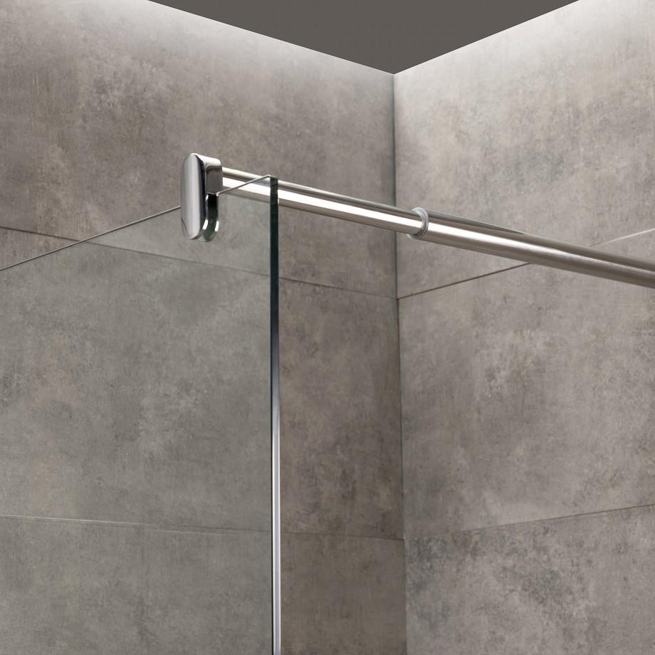 viesta duschwand glas 70 140x195cm nano versiegelung. Black Bedroom Furniture Sets. Home Design Ideas